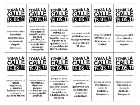Democracia Real YA: una manifestación estatal este domingo gestada en las redes