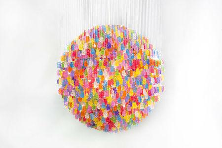 Candelier, una lámpara de diseño con ositos de goma
