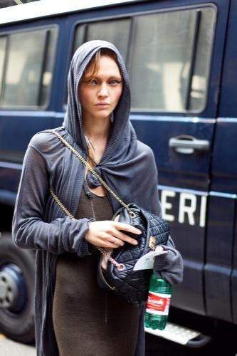 Looks de calle para estos días: vestidos e ideas para esta Nochevieja, Sasha Pivovarova