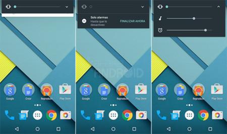 Así es el nuevo control de volumen de Android M, con modo silencio