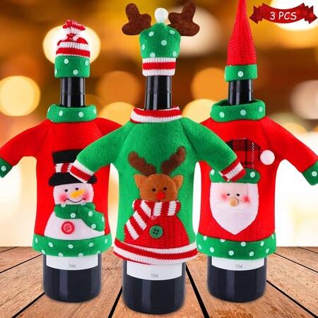 Fundas de botellas para Navidad