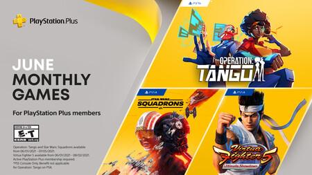 Virtua Fighter 5 Ultimate Shodown y Star Wars: Squadrons entre los juegos de PlayStation Plus de junio de 2021