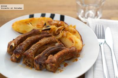 Costillas de cerdo con salsa cajún. Receta