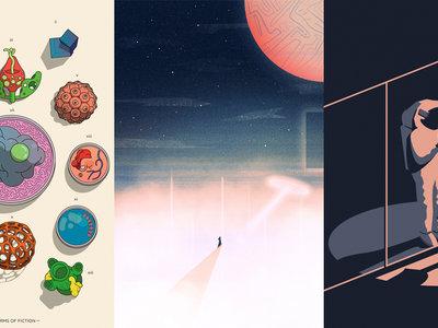 Hacia lo desconocido: los carteles ganadores del concurso de ciencia ficción del Barbican Centre