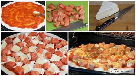 Pizza Salmon Mosaico