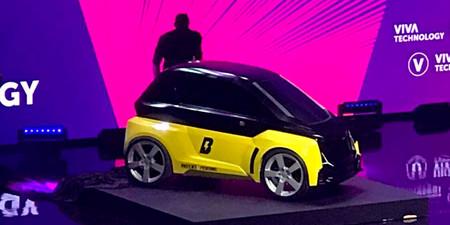 Usain Bolt presenta su microauto eléctrico para moverse en las grandes ciudades