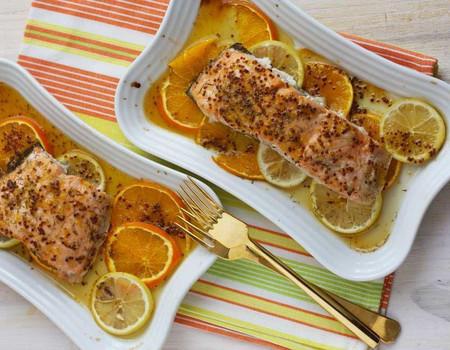 Salmón al horno con naranja y limón: receta fácil de placer cítrico