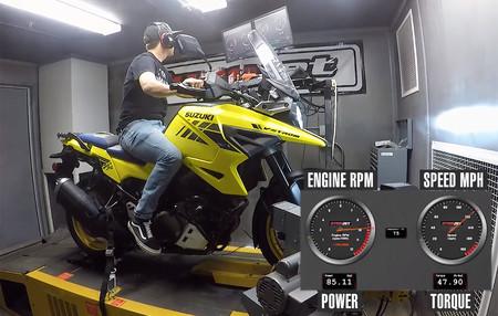 La Suzuki DL1050 V-Strom se queda en 95 CV de los 106 anunciados, según las pruebas en banco de potencia