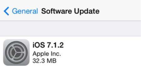 Apple publica iOS 7.1.2 con corrección de errores y mejoras en iBeacons