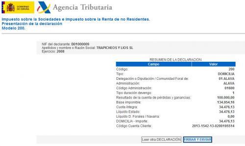 Impuesto de sociedades presentaci n telem tica de la for Oficina virtual aeat