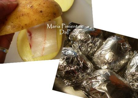Patatas asadas con panceta ibérica