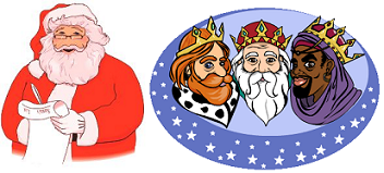 Fotos Papa Noel Reyes Magos.Reyes Magos O Papa Noel