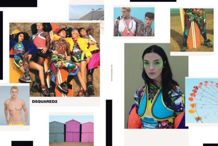 Neo surfers y mucho color en la campaña de primavera-verano de Dsquared2