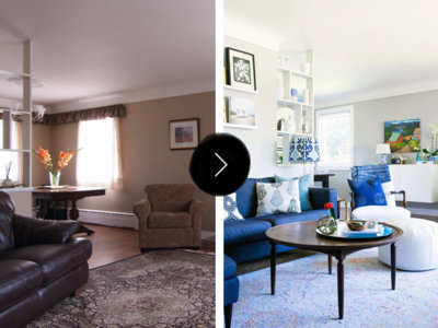 Antes y después: aclarando tonos y ganando luz en el salón