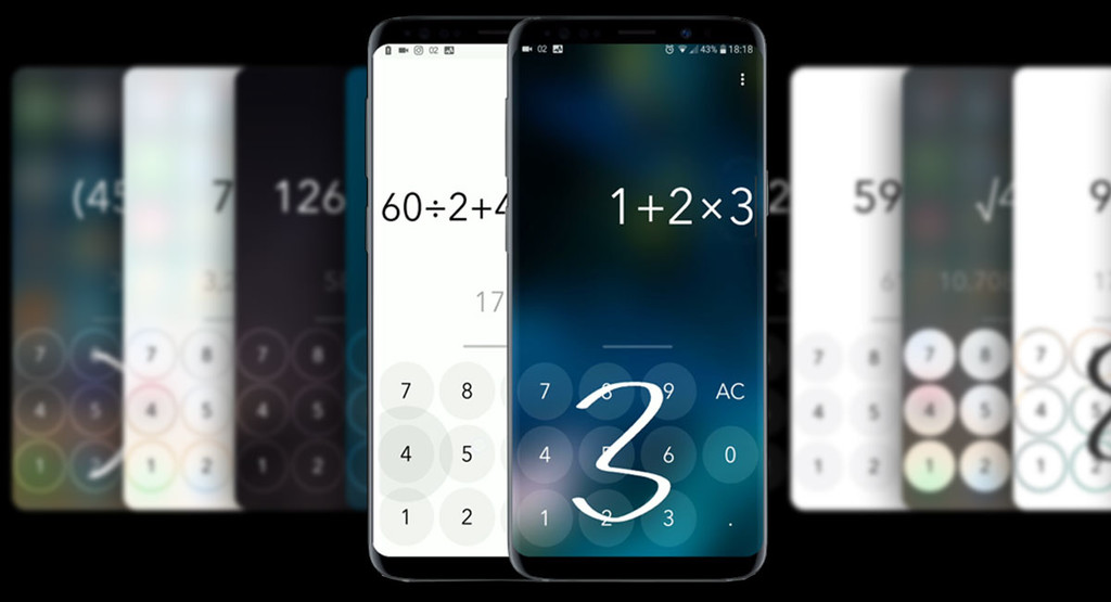 Calculator Touch: scribble numbers on the screen to calculate the result