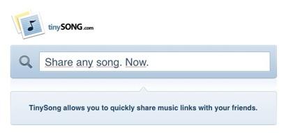 TinySong, comparte tus temas musicales favoritos