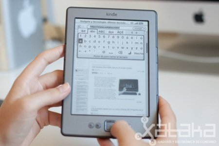 Kindle 4 teclado virtual