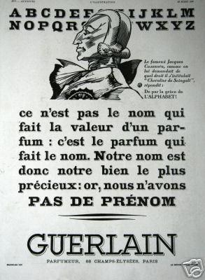pas de prénom, Guerlain