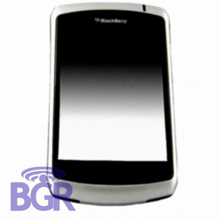 Blackberry 9000 con pantalla táctil más cerca