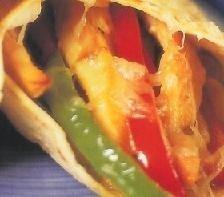 Burritos de verdura con pollo