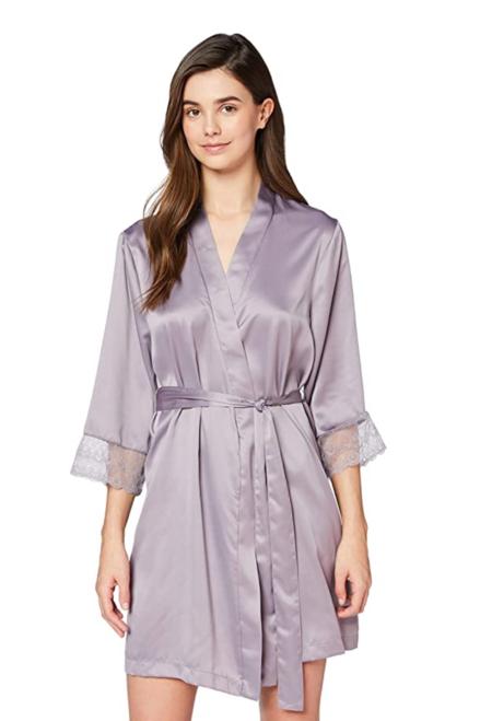 Marca Amazon Iris Lilly Bata Corta Estilo Kimono De Saten Para Mujer