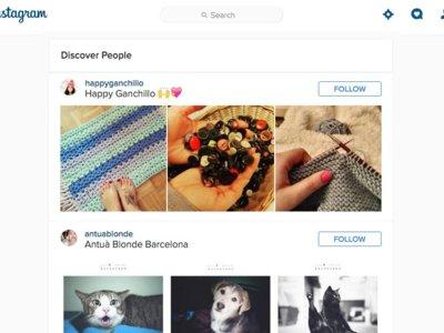 Encuentra nuevas cuentas interesantes para seguir desde el cliente web de Instagram