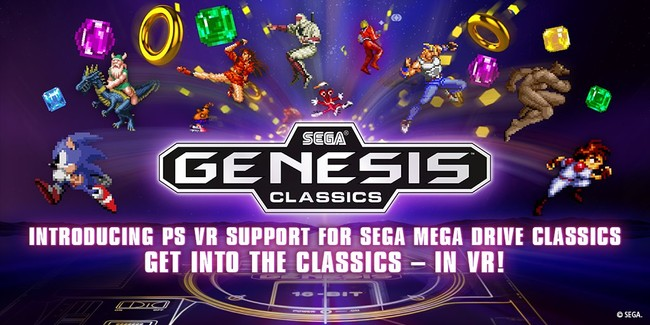 SEGA Mega Drive Classics ya es compatible con PSVR: así lucen sus clasicazos en Realidad Virtual