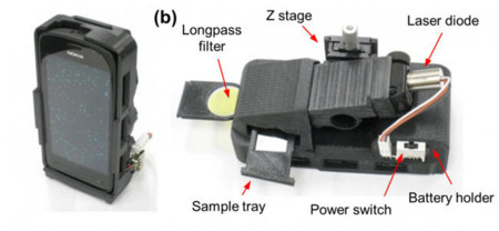 Microscopio en smartphone