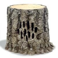 Altavoz con forma de tronco de árbol