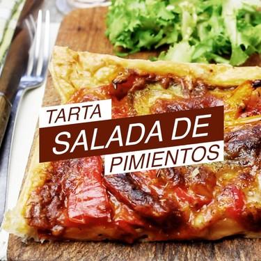 Tarta salada de pimientos. Receta vegetariana en video