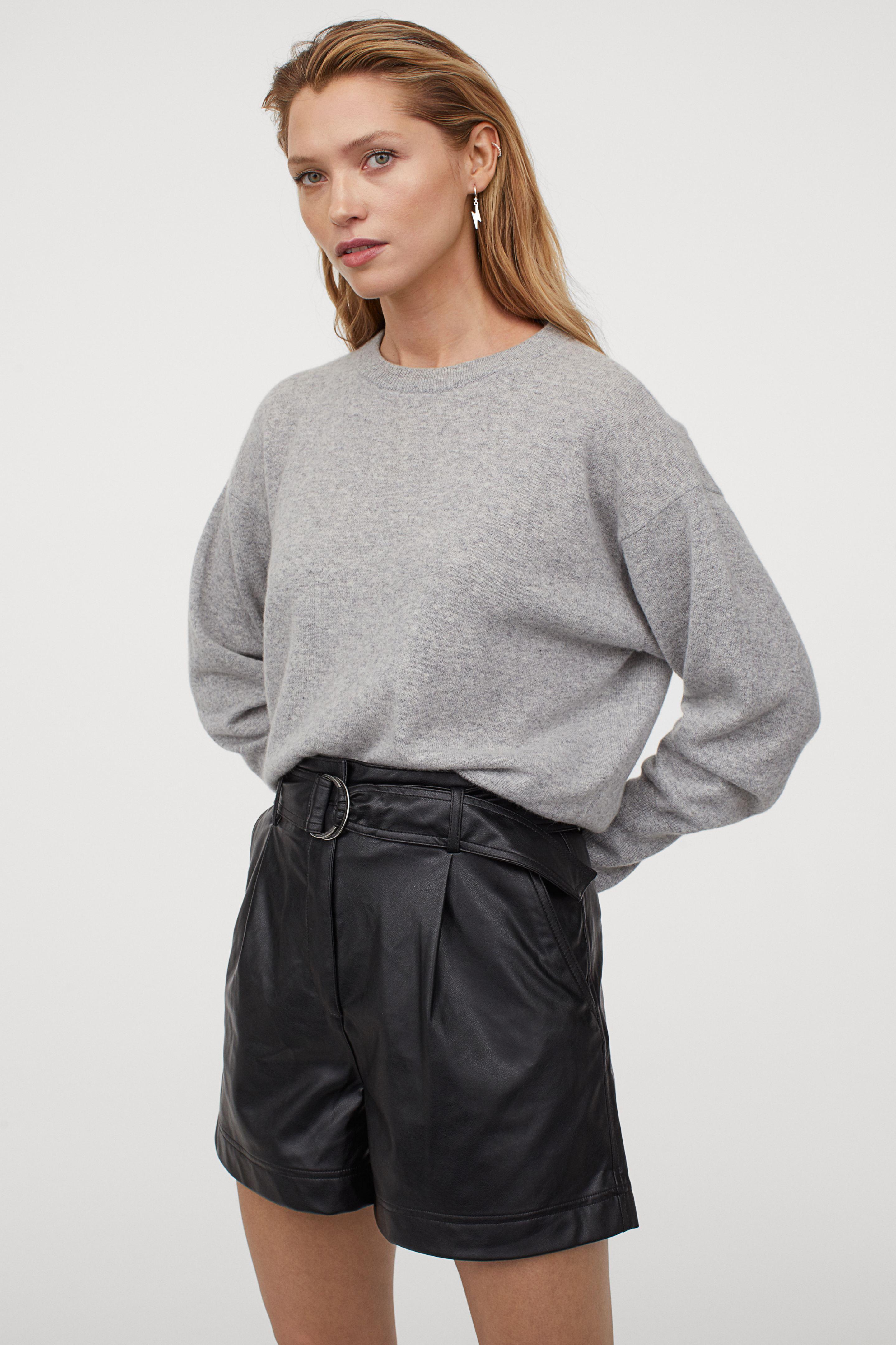Shorts de piel sintética