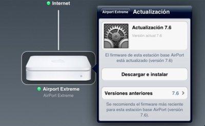 Actualización del firmware de las estaciones base AirPort y Time Capsule a la versión 7.6