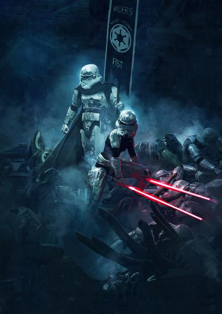 Guillem H Pongiluppi Guillemhp 501 Legion Stormtroopers Vs Aliens Detail 3
