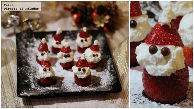 Santa Claus de fresas con nata