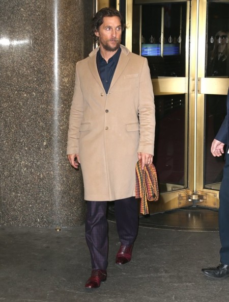 Matthew Mcconaughey Camel Coat Fall Winter 2016 Trend 2