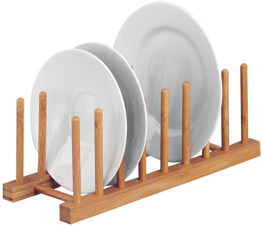 Zeller 25278 Escurridor para platos de madera