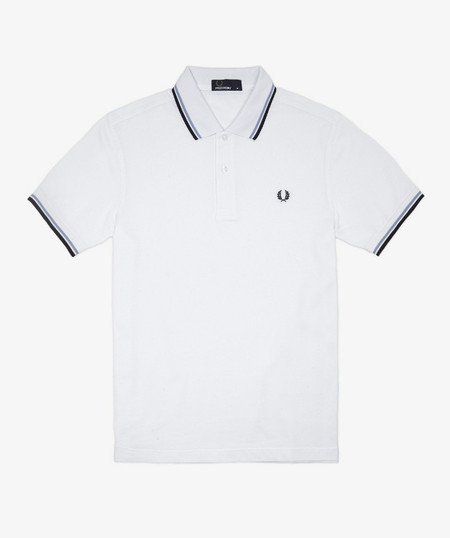 fred perry polo blanco