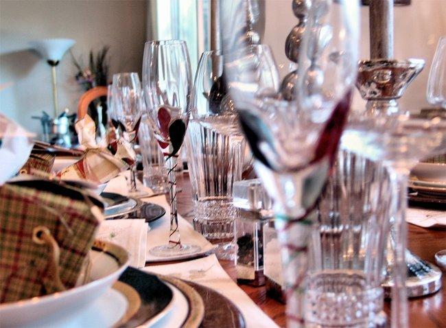 decoracion de mesa en navidad