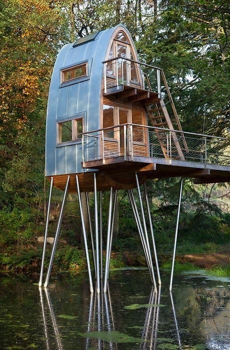 casa en el estanque