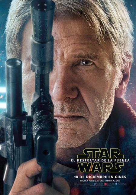 Star Wars 7 El Despertar De La Fuerza Imagenes Nuevos Carteles De Los Protagonistas 4 Han Solo