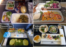 14 fotos que nos muestran la diferencia entre la comida de clase turista y primera clase