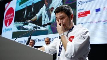 Las lágrimas de Jorge Gago, Cociñeiro Novo 2017, al dedicar el premio a su novia fallecida de cáncer