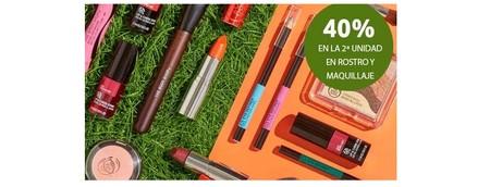 The Body Shop nos ofrece un descuento del 40% en la segunda unidad en productos de maquillaje y cuidado facial