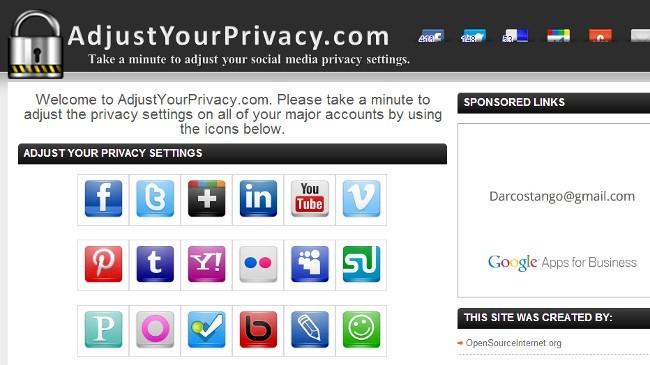 Revisando los ajustes de privacidad AdjustYourPrivacy