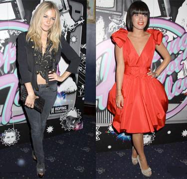 Lily Allen y Sienna Miller, dos estilos muy diferentes para la noche londinense