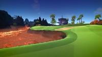 Una muestra de los coloridos personajes y campos de golf del 'Powerstar Golf' de Xbox One