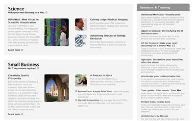 """""""Mac at Work"""": Nueva web de Apple"""