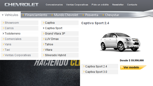 Chevrolet Captiva Sport en Colombia
