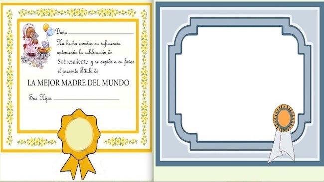 Diploma Para El DIA De La Madre