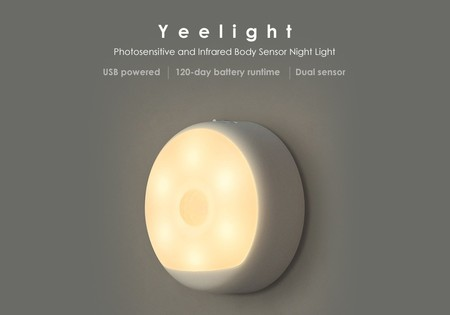 Luz nocturna Xiaomi Yeelight Small Night Light, son sensor de movimiento, por 9,25 euros con este cupón